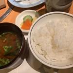丸小 - ご飯&お味噌汁