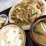 第一食堂 - 料理写真:肉野菜炒め定食