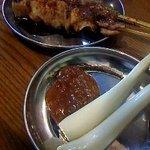 四文屋 - エシャレット、モモ肉、ツクネ(全100円)