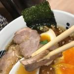 Asakusa Ramen Yoroiya - チャーシュー断面3-4㎜