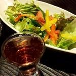 升屋 - 食前酒【スパークリングロゼワイン】 【サラダ】2人前