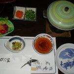 Sapporokaniya - 付き出しやテーブルセットなど