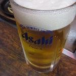 むつくら亭 - 生ビール(中) ¥500