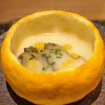101399401 - 黒アワビとジャガイモのスープ