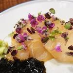 傳 - 静岡県産ヒラメの刺身 海苔