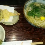 手打ちそば 菊園 - 天ぷらうどん880円