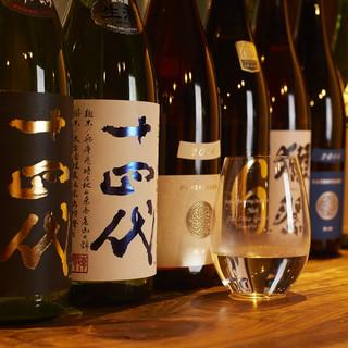 【厳選した日本各地の地酒をご用意しております】