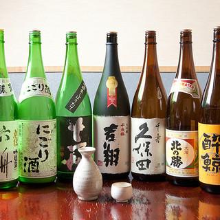 生ビールはサッポロクラシック、北海道の各種地酒