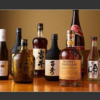 天ぷらと引き立て合う、多彩なお酒をご用意。