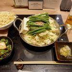 博多もつ鍋おおやま - もつ鍋定食 1280円