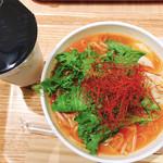 TP TEA - 麻辣湯 赤 + タピオカ紅茶ラテ