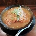 101427324 - 豚ロースカツらーめん(味噌・太麺)900円