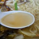 麺や一発 - 塩めんのスープ