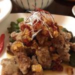 四川麻婆専家 辣辣 - 台湾酢豚  油淋鶏のタレで仕上げてます  さっぱり酸っぱくて美味い♪♪♪