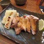 蕎麦切り 酒 大愚 - 媛っこ地鶏と千住葱の塩焼き