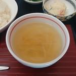家庭料理 味楽 - スープ(カレー定食)