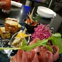 Rozetta-前菜(生ハム、わかさぎマリネ、卵焼きなど)