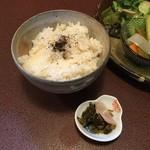 ジャム cafe 可鈴 - 【週替わりランチ(1,050円)】ごはんとお漬物
