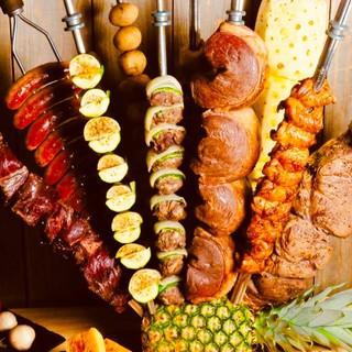 銀座最多20種類のシュラスコ(シュハスコ)食べ放題