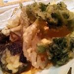 野菜料理と土鍋ごはんの店 侒 - 冬野菜の天婦羅