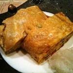 野菜料理と土鍋ごはんの店 侒 - 煮付け野菜と唐辛子の出し巻き玉子