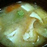 野菜料理と土鍋ごはんの店 侒 - 長崎県五島列島麦味噌の味噌汁