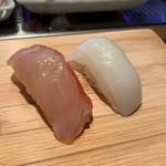 まぐろ人 - 金目鯛の昆布〆(230円)すみいか(170円) 2019.2