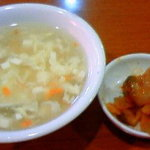 Renkouen - スープとザーサイ