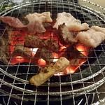 塩焼きホルモン 剛 - 七輪焼き最高♥️