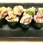 くうとん - 料理写真:柚子とバターの炙りロース軍艦巻き