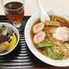 川ばた - 料理写真:あんみつ+ラーメン(780円)