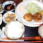 釜利谷ふれあいカフェ - 日替わりランチ 揚げ物定食(金)