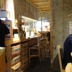 鶏屋 ぜんろく - 1階カウンターの奥。ちょっと狭いですが、2階席は最大36名様OKとの事。
