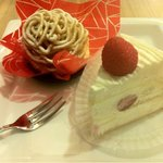 10147356 - 和栗のモンブラン&プレミアムショートケーキ