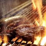炭火 ゆるり - 料理写真:牛サラ→ロース                       胡麻山葵でご賞味あれ♪