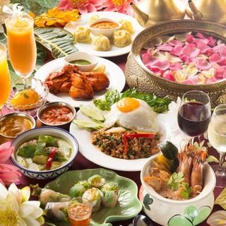 本格アジアン料理のパーティプラン