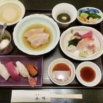 寿司の小林 - 料理写真:でランチメニューの松(2200円)