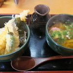 丸亀うどん - 料理写真:ミニ天丼 ミニうどん付き