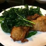 喜来楽 - 台湾バジルと鶏のから揚げ