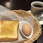 元町珈琲 - 料理写真:元町ブレンド450円とトーストのモーニング