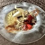 悦  - デザート:ティラミスのパルフェ・グラッセと塩のアイスクリーム