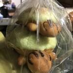 小麦畑松林堂 - 夕方サービス 17:00以降 5個で500円 亀の親子パン、ミックスサンド (ハムと玉子、ツナと玉子)、豚パン (肉まんの具とチーズ)、プチサンド