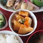 和風レストラン 麻希 - 小鉢(鱈の西京漬定食)