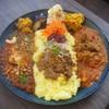 Cafe 豆うさぎ - 料理写真:3種盛りあいがけカレー
