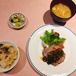 茶屋 亜希子 - 熟成豚のロースト 菜花のコチュジャンソース