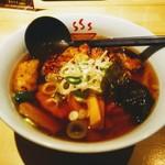 麺や 松 - 料理写真:らーめん&炙りチャーシュー&味濃い目!「あっさり」ではなく「しっかり」。
