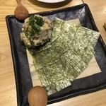 ととしぐれ - ポテトサラダ。海苔で巻いて食べるタイプ