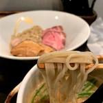 101507380 - 名古屋コーチンつけ麺(三種肉のせ)