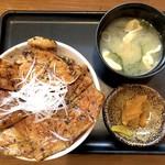 なまらうまいっしょ - 特上国産本ロース豚丼 並(960円)