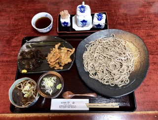そば座敷 平吉 - そば膳 (写真は前菜とそばのみ) ¥1200